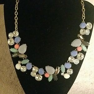 Necklace with Blues and Pinks